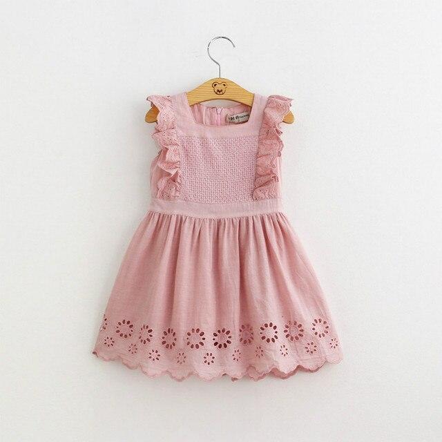 2018 Summer Baby Girls Birthday Party Dress Toddler Baby Cotton