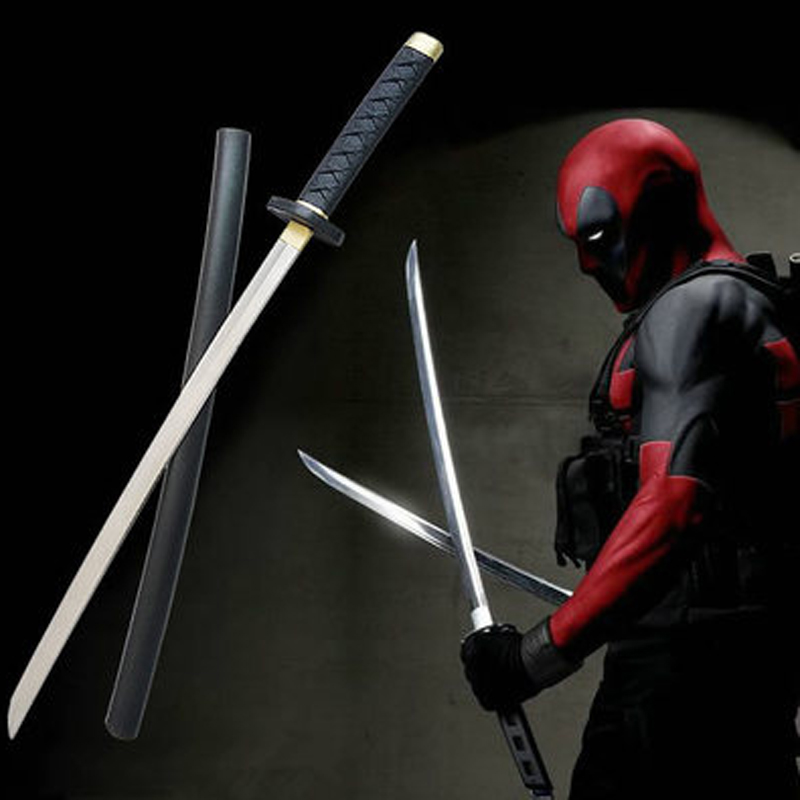 Movie Deadpool Sword Cosplay Figure Model Equipment PU Swords Weapons Party Costumes Accessories Props 61cm