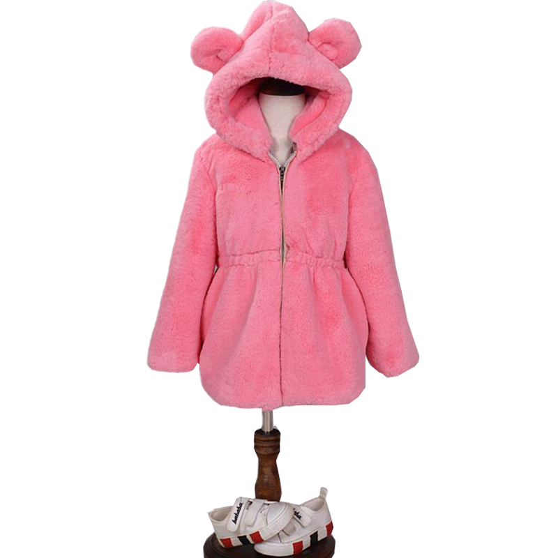 Girls Luxury Faux Fur Coats & Jackets Winter Jacket For Girls Baby Clothes Parka Elegant Clothing Baby Girl Outerwear Coat стоимость