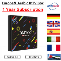 Original H96 Max 4GB 32GB Android 7.1 Smart TV Box Best HD IPTV 1400 Channels IPTV French Italy Germany Arabic Portugal IPTV Box