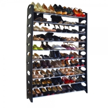 MoeTron Creative 10-Tier Large Shoe Rack For 50 Pair Shoes Organizer Wall Bench Shoe Cabinet Plastic Shoe Stand Rack