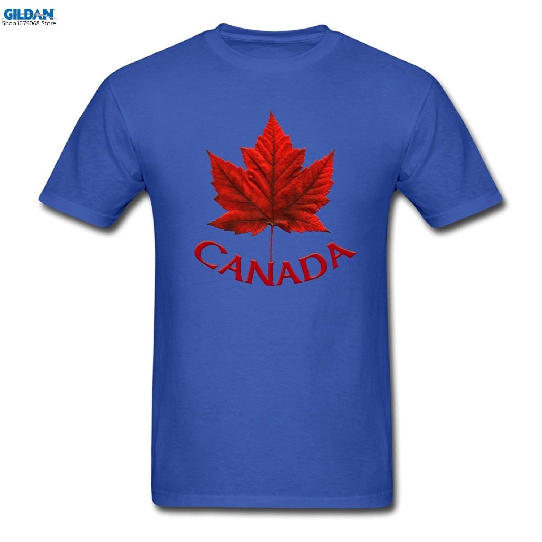 Design tshirt online canada - Gildan Printed Tee Shirt Design Personalized Shirts Crew Neck Canada Maple Leaf Short Premium Tee Shirts For Men