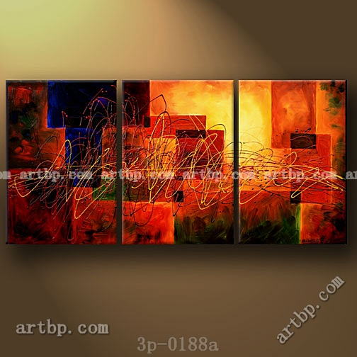Momentum Oil Painting Canvas Inspiration 3 Panel 3 Pcs Set