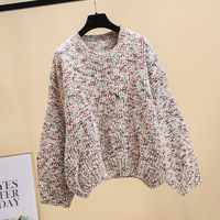 2018 autumn and winter new Korean fashion color lazy hooded ladies sweater irregular sweater sweater women