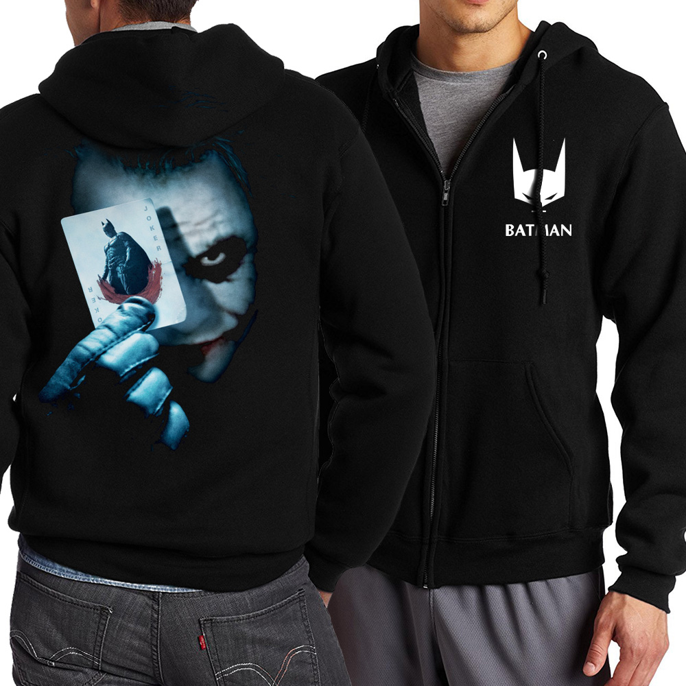 new fashion spring autumn 2017 funny heath ledger joker hoodies men sweatshit harajuku zipper jacket homme mma homme S-5XL