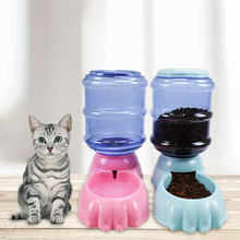 @HE Dog Automatic Drinking Fountains Pet Cat Feeding Device Food Bowl Water Gravity Basin 3.8L