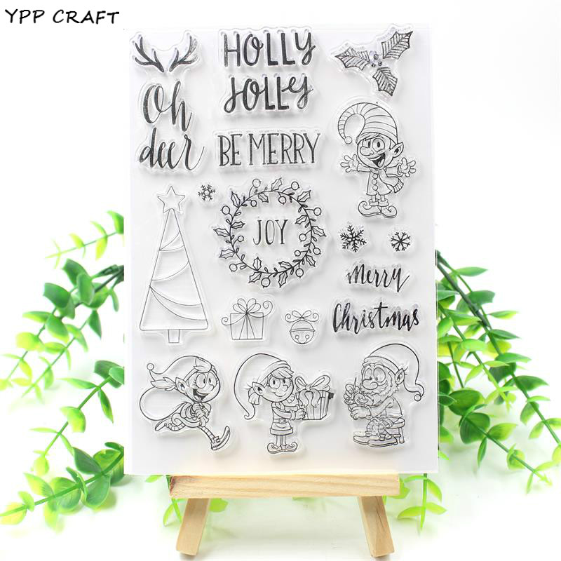 YPP CRAFT Be Merry Transparent Clear Silicone Stamp/Seal for DIY scrapbooking/photo album Decorative clear stamp about lovely baby design transparent clear silicone stamp seal for diy scrapbooking photo album clear stamp paper craft cl 052