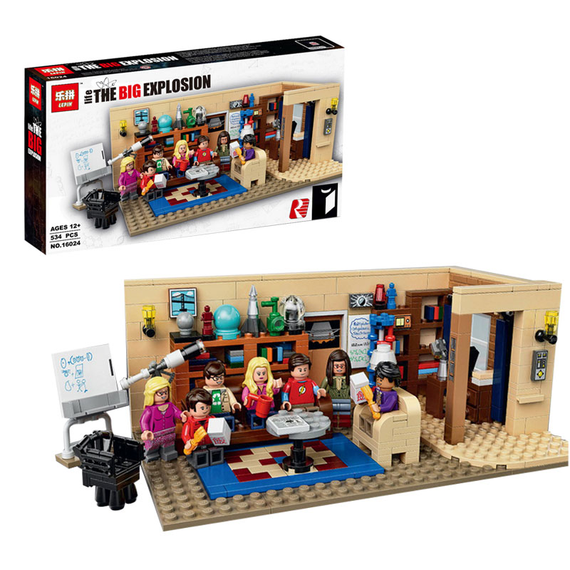 ФОТО IN STOCK Lepin 16024 534Pcs IDEAS Series The Big Bang Set Educational Building Blocks Bricks Compatible Children Toys Gift 21302