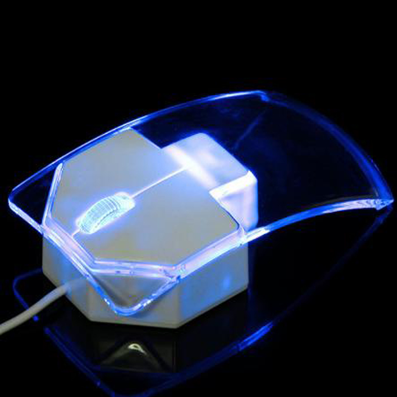 투명 한 주도 광학 유선 된 마우스 컴퓨터에 대 한 - 컴퓨터 주변 기기