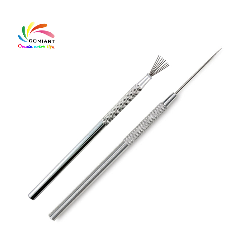 7 Pin Feather Wire Texture & Pro Needle Pottery Clay Tools Set Ceramics Sculpting Modeling Tool Pottery Texture Brush Tools(China)