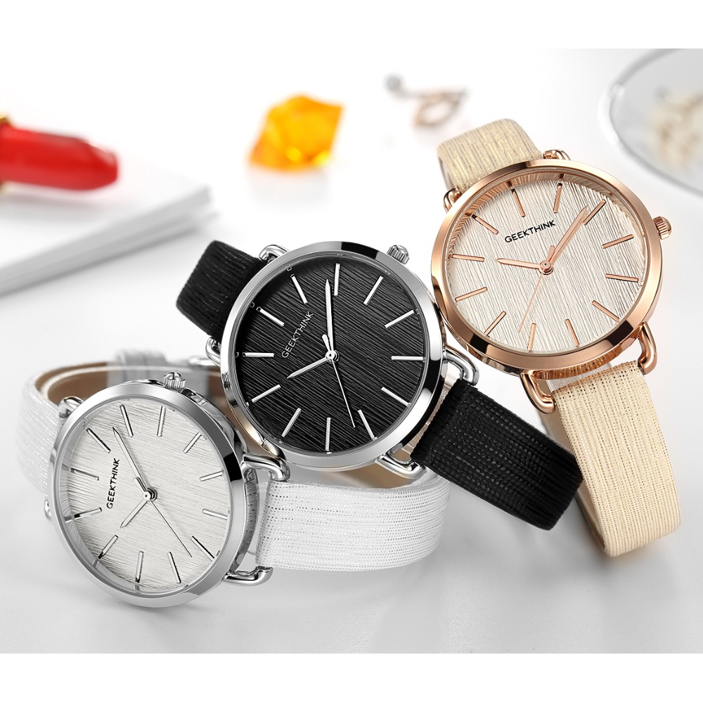 Geekthink Top Luxury brand Fashion Quartz Watch Women Ladies ...