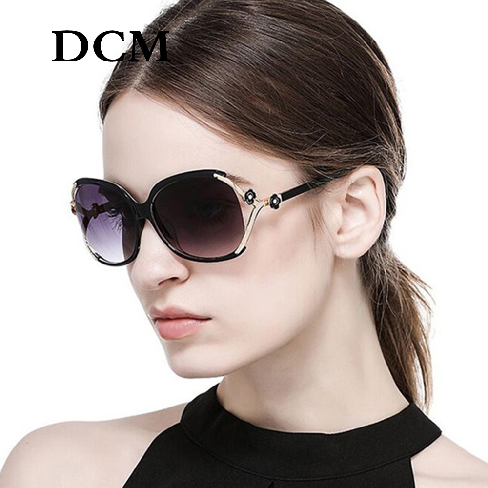 DCM Women New Driving Sun Glasses With Flower Decoration Brand Fashion Gradient Lens Sunglasses UV400