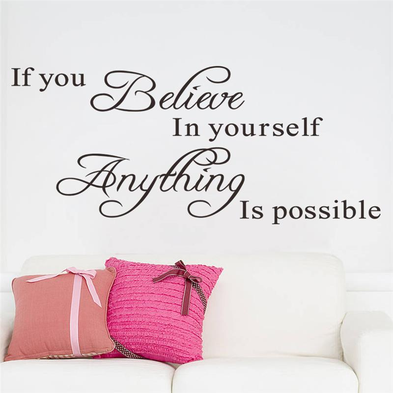 Aliexpresscom Buy if you believe in yourself inspirational