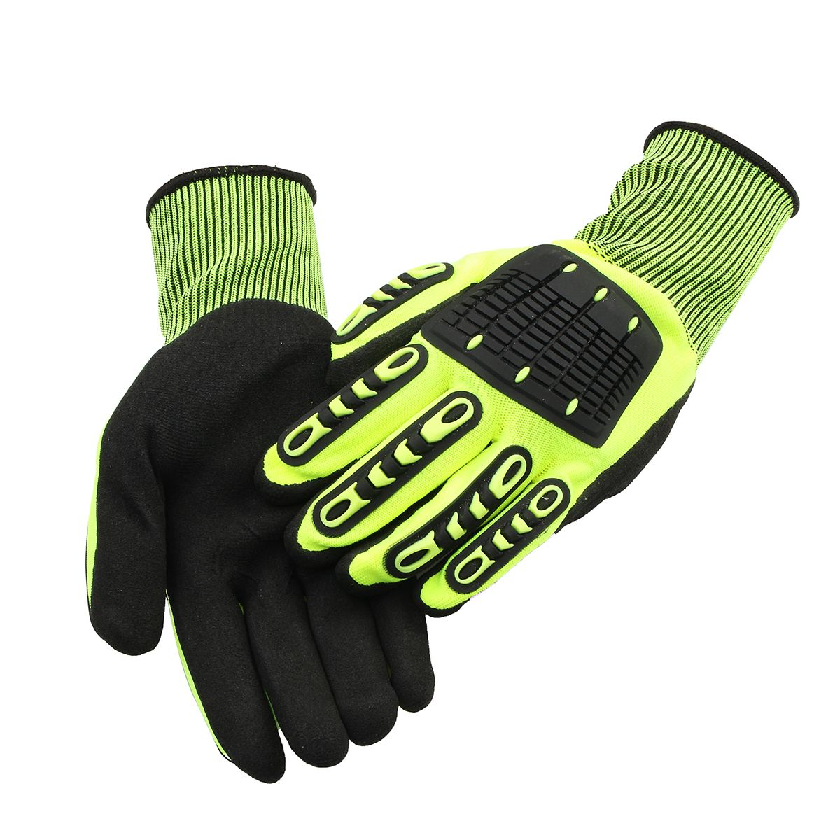 Safurance Anti-Vibration Safety Work Cycle Grip Glove Hand Protection Impact Resistant  Workplace Safety new safurance pro tree carving fall protection rock climbing equip gear rappelling harness workplace safety