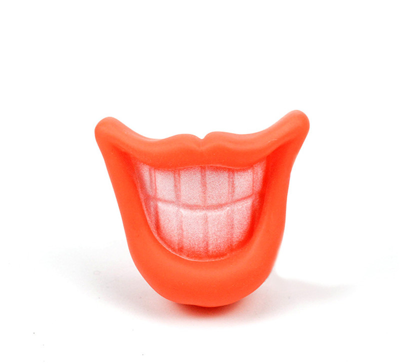 Novelty Funny Pet Dog Puppy Chew Sound Squeaky Big Smile Lips Teeth Play Toy or All Pets Plush Toys in Dog Toys from Home Garden
