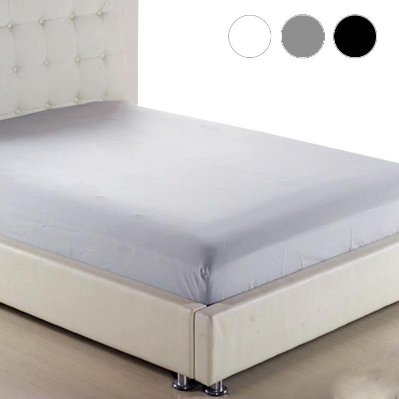 Folha de cama e Lençóis Em Elástico Colchão Da Cama Tampa 160x200 Cinza Preto Branco Roupa de Cama Lençol Cama 150 180 200 90