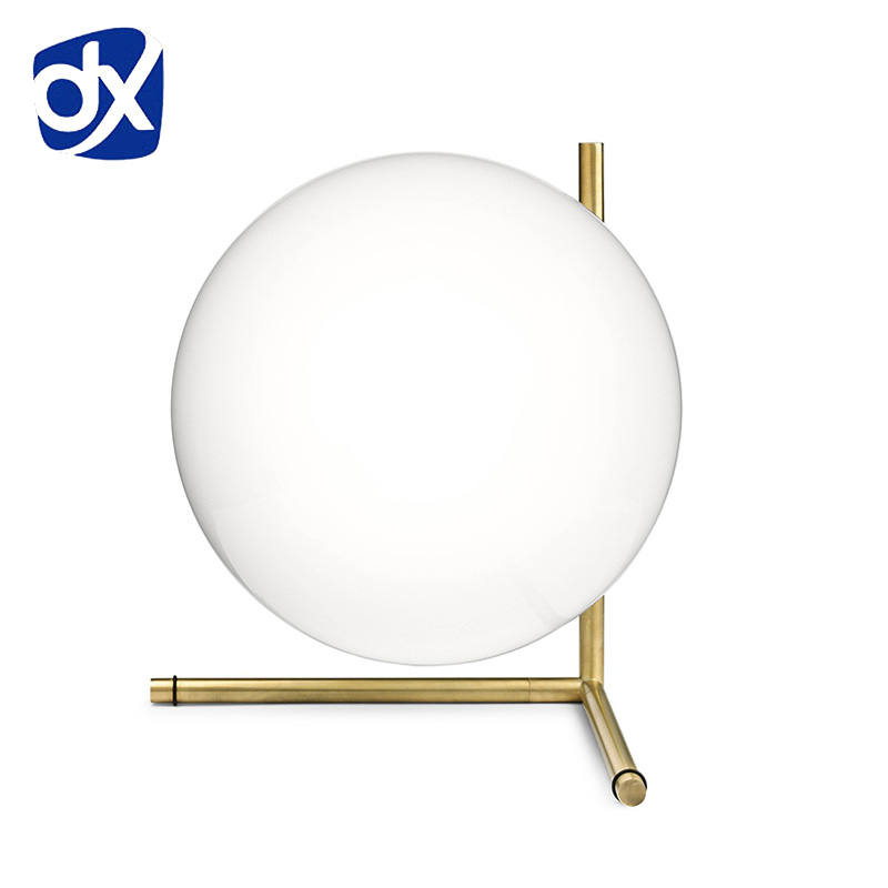 Hot Simple Postmodern Style Table Lamp Glass Ball Lamp Lampen Desk Light Deco Lampe Post Modern Lights Nordic Lighting 250616 computer desk and desk style modern simple desk with bookcase desk simple table solder edge e1 grade sheet material