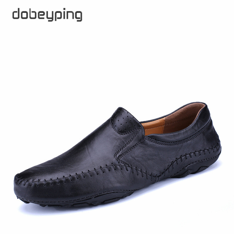 2018 New Arrival Genuine Leather Men's Casual Shoes Slip-On Man Flat Shoe Fashion Moccasins Male Loafers Soft Driving Footwear cbjsho british style summer men loafers 2017 new casual shoes slip on fashion drivers loafer genuine leather moccasins