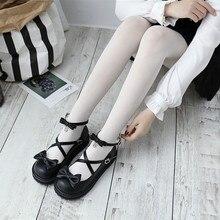 9934f7b215d Japanese Cute Bow Low Heel Round Head Lolita Princess Shoes Black Pink White