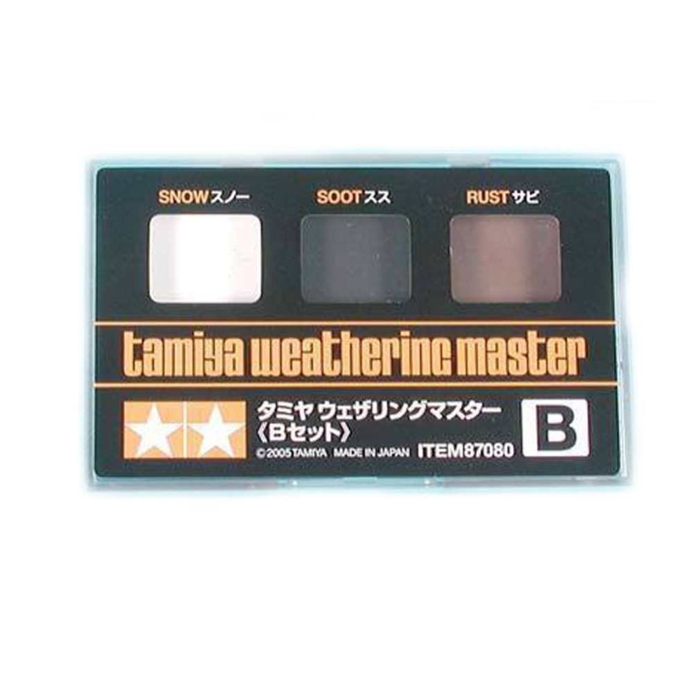 OHS Tamiya 87080 Model Weathering Master Type B Snow Soot Rust Hobby Model Supply Material