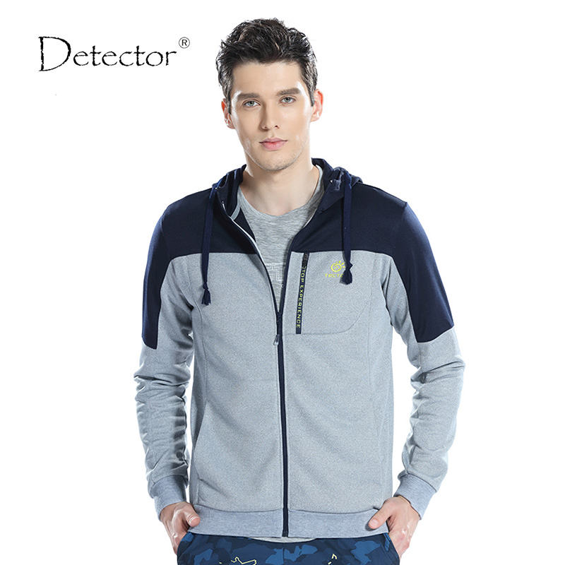 Detector Windproof Warm Jacket Men's Hooded Hoodies Men's Sweatshirt Light Polar Fleece Tracksuit Male Coat