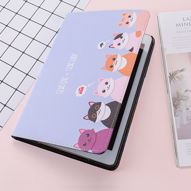 For IPad Pro 10.5 Case Fashion Cartoon Cute Cat PU Silicone Soft Back Tablet Cover For Apple IPad Pro 10.5 Flip Smart Stand Case