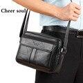 Homens De Couro genuíno Clássico Messenger Bags Moda Bolsas Casual Ombro Negócio para o homem, 2015 Novos Sacos de Viagem dos homens Bolsas