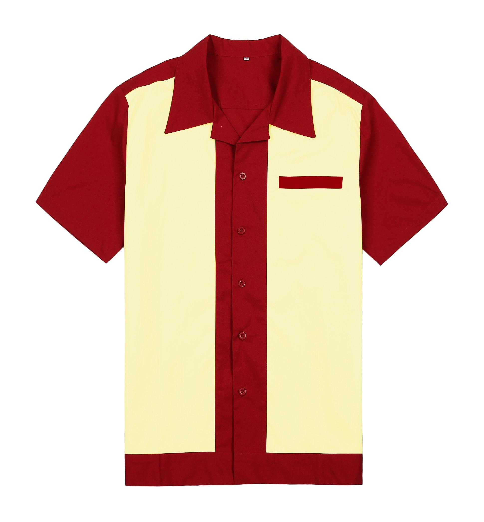 0f531c4d1c96b Mens Purple Wear Panel Color Short Sleeve Button Up Cotton 50 s 60 s Vintage  Casual Designer Shirts