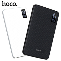 HOCO 30000mAh Power Bank Portable Charger With Display Triple USB Mobile Phone External Battery For IPhone