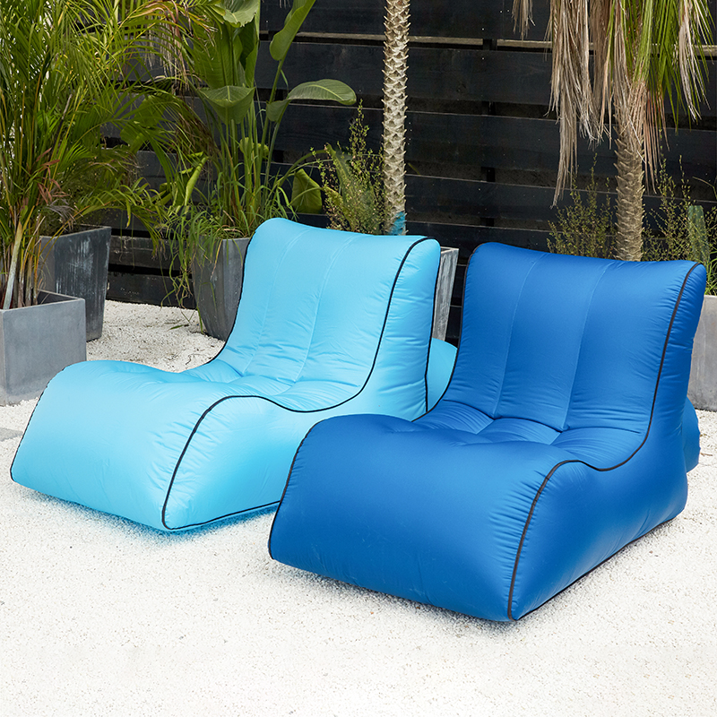 Image 4 - Inflatable bean bag sofa  outdoor beach chairs  beanbag lounger air lazy chair-in Beach Chairs from Furniture