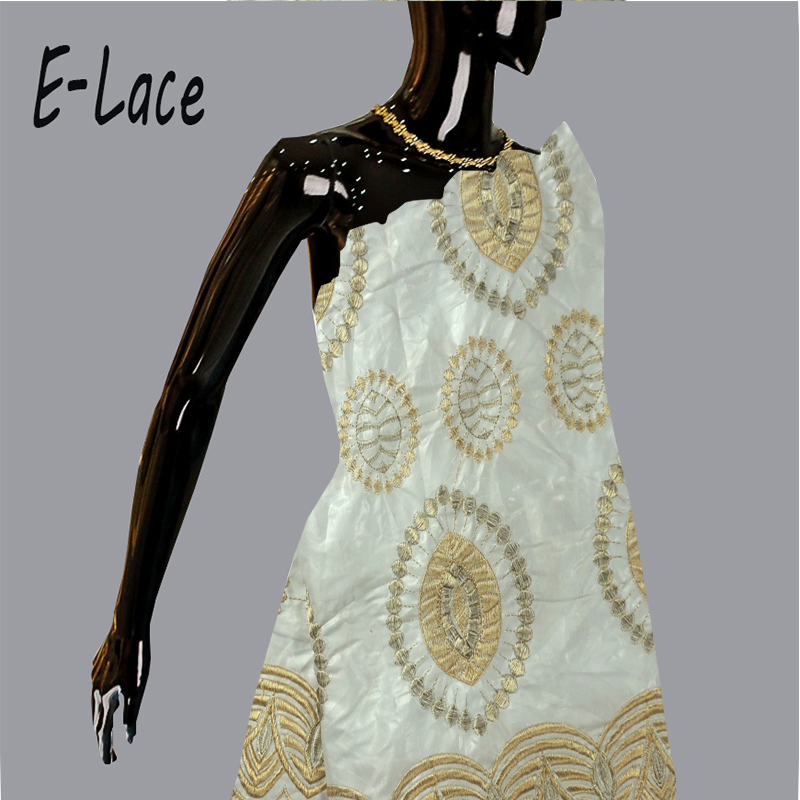 2017african embroidered jacquard fabric Guinea Brocade cotton fabric bazin riche getzner for nigerian font b wedding