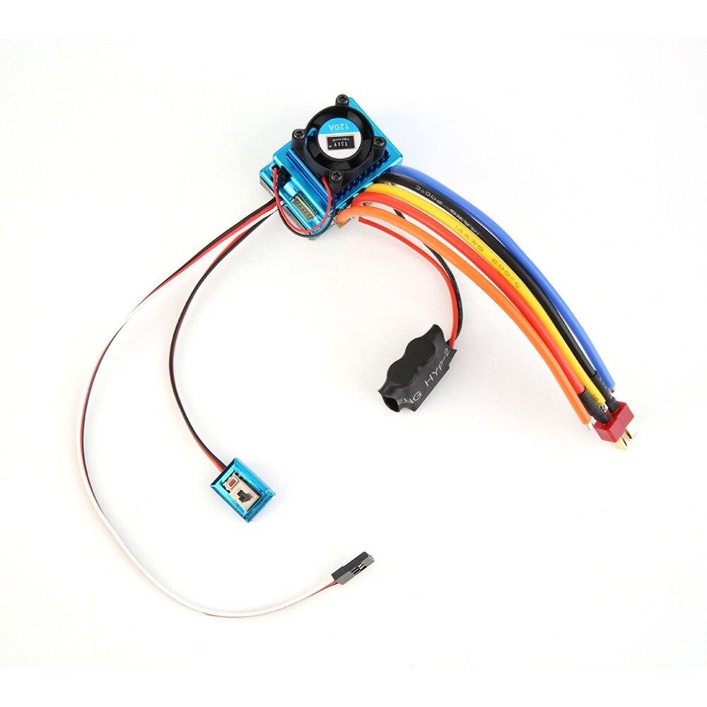 Hot! 1 pc Professionnel 120A ESC Sensored Brushless Speed Controller Pour 1/8 1/10 Voiture/Camion Sur Chenilles Voiture Véhicule Utilisé RC pièces & Accs