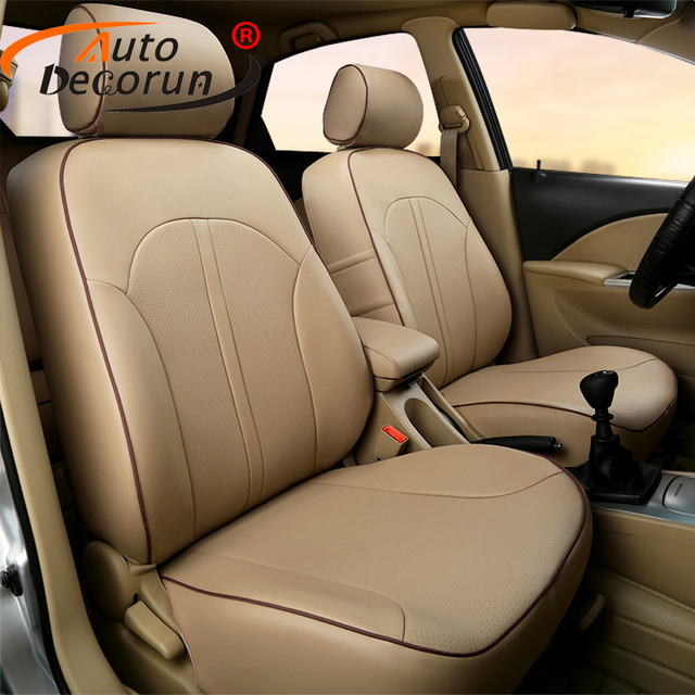 AutoDecorun Custom Fit Cover Seat Leather For Toyota Sienna 2017 Car Covers Set Cushion
