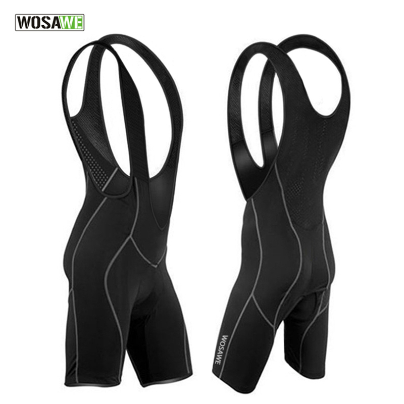WOSAWE culote ciclismo hombres Mens Bicycle Bike Vest downhill Chothes Cycle bermuda ciclismo 3D Cushion Pad Braces