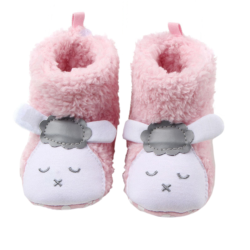 Newborn Baby Girls Boys Winter Boots Crib Cute Shoes Soft First Walkers Toddler Fleece Super Keep Warm Snowfield Booty