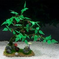 25*23*20CM Simulation Artificial Fake Tree Plants Aquarium Decor Artificial Water Grass Plastic Aquarium Plants Ornament Decor