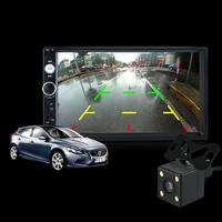 7 Inch HD Bluetooth Screen Car Stereo 2 DIN MP5 USB AUX FM With Camera