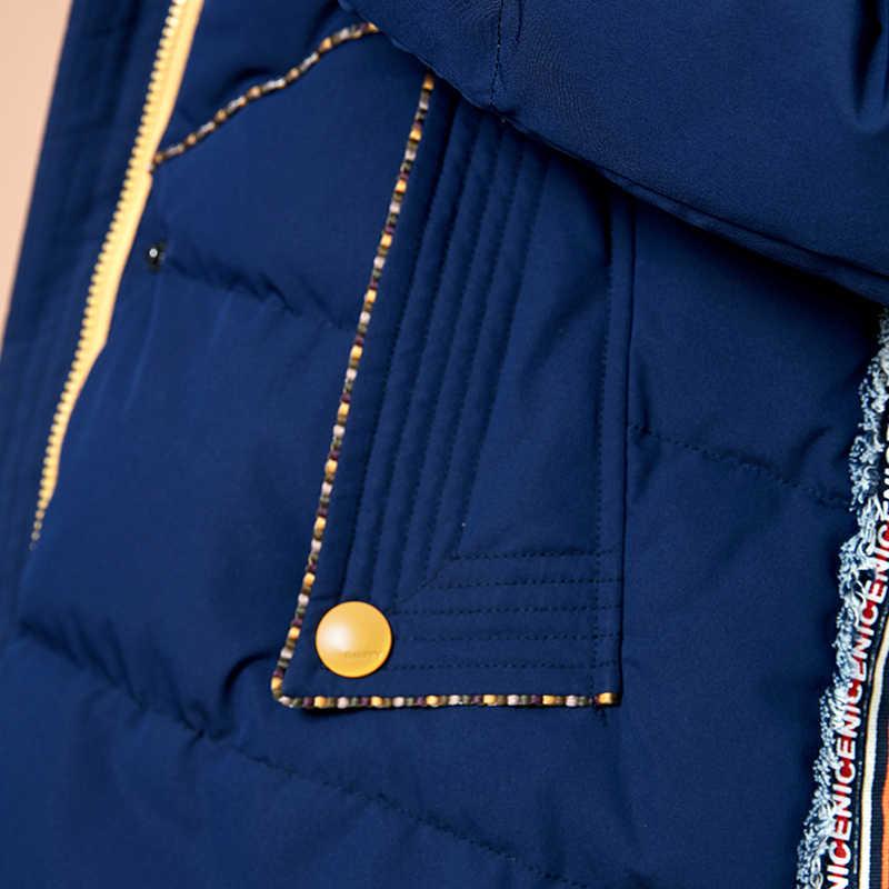 ARTKA/Новая мода 2018, зимняя женская куртка-пуховик на 90% утином пуху, длинное пуховое пальто, парка с капюшоном и принтом в виде звезд и букв, ZK10087D
