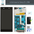 Mobile Phone Screen Replacement For Sony Xperia Z1 L39H C6902 C6903 Z1 LCD display Touch Screen Digitizer With Frame Assembly