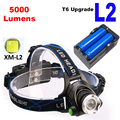 5000 Lumens CREE XM-L2 LED Headlamp Headlight Head Lamp Light +Charger + Battery for Camping Fishing Outdoor Lighting