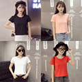 Value Baby Girls T-Shirt Short Style Summer Solid Teenage T-Shirts Children Clothing European Style Girls Kids Tops & Tees A103