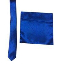23 Colors Man Polyester Silk Pocket Square Tie Suit Set Hanky Groom Wedding Suits Business Handkerchief Necktie FR186712
