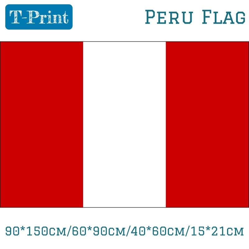 90*150 Cm/60*90 Cm/40*60 Cm/15*21 Cm Perù Nazionale Bandiera Di Poliestere 5 * 3ft Per Evento Ufficio Decorazione Della Casa Funzionalità Eccezionali