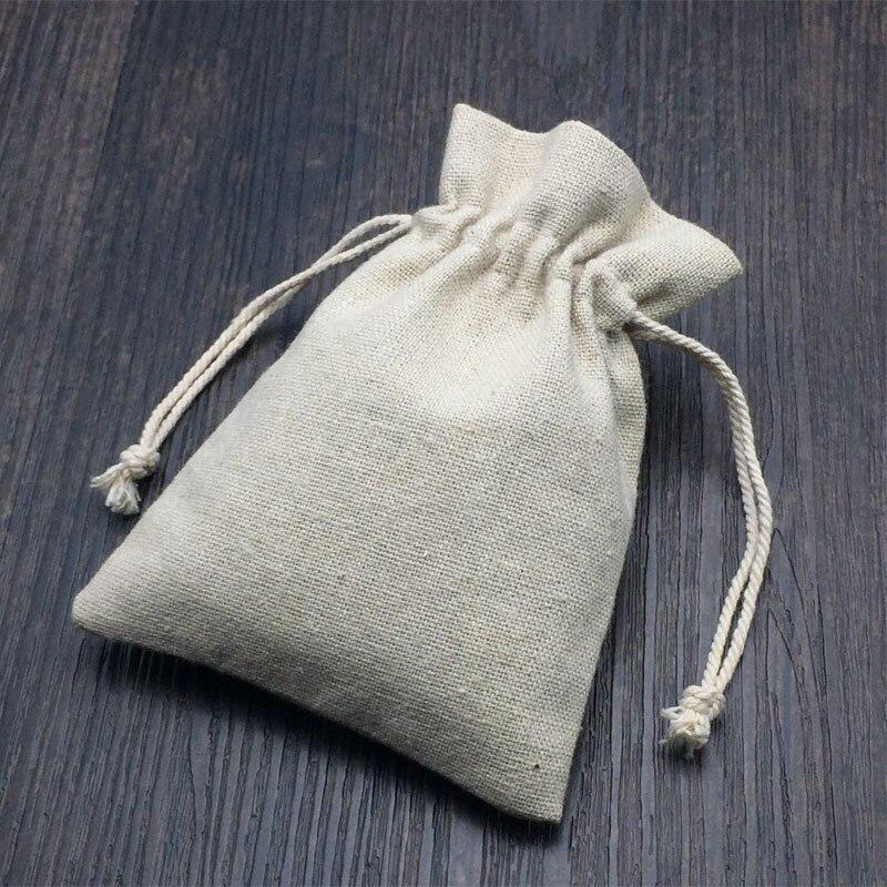 리넨 황마 선물 포장 가방 9x12cm 10x15cm 13x17cm 50 팩 - 휴일 파티 용품