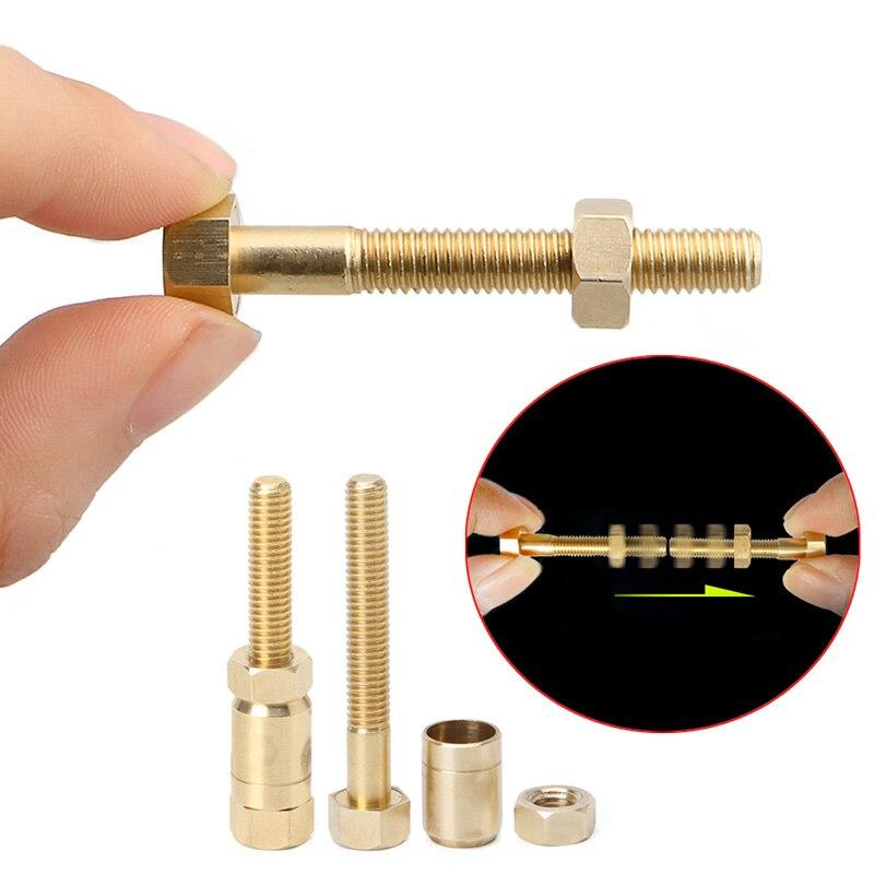 New 1Set Nut Off Bolt Magic Set Props Autorotation Rotating Nut Off Bolt Screw Close Up Magic Gimmick Trick New