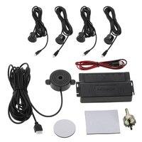 Car Alarm Auto 4 Sensor Parking Assistance Radar Detector Kit Reverse Car Styling Alarm System Parktronics