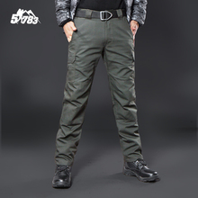 IX9 Militar Tactical Cargo Outdoor Pants Men Combat SWAT Army Training Military Pants Cotton Hunting Hike Outdoors Sport Trouser
