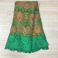 Tulle Embroidered Net Lace African French Laces Fabrics High Quality Nigerian French Net Lace2017 With Stones