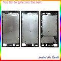 Novo original para sony xperia z5 premium z5p e6853 e6883 E6833 LCD Quadro Oriente Moldura Caixa com Botão Lateral Traseira substituição