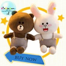 35 см бурый медведь и кролик Кони набивная плюшевая игрушка медведь  плюшевые игрушечные животные мягкие куклы 4d8f00f136ab8